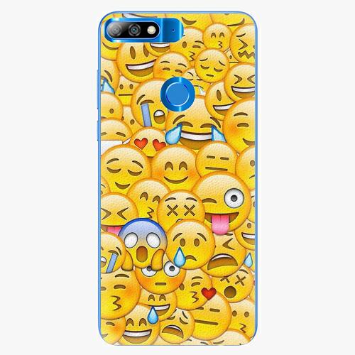 Plastový kryt iSaprio - Emoji - Huawei Y7 Prime 2018
