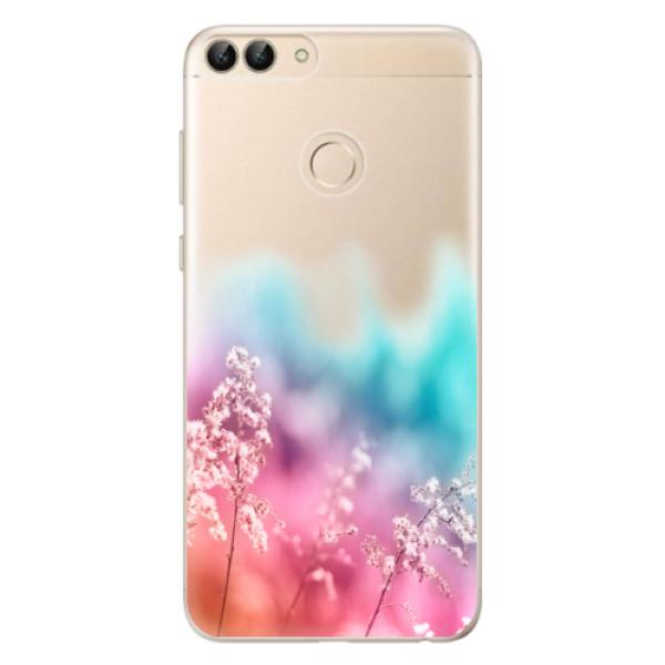 Odolné silikonové pouzdro iSaprio - Rainbow Grass - Huawei P Smart