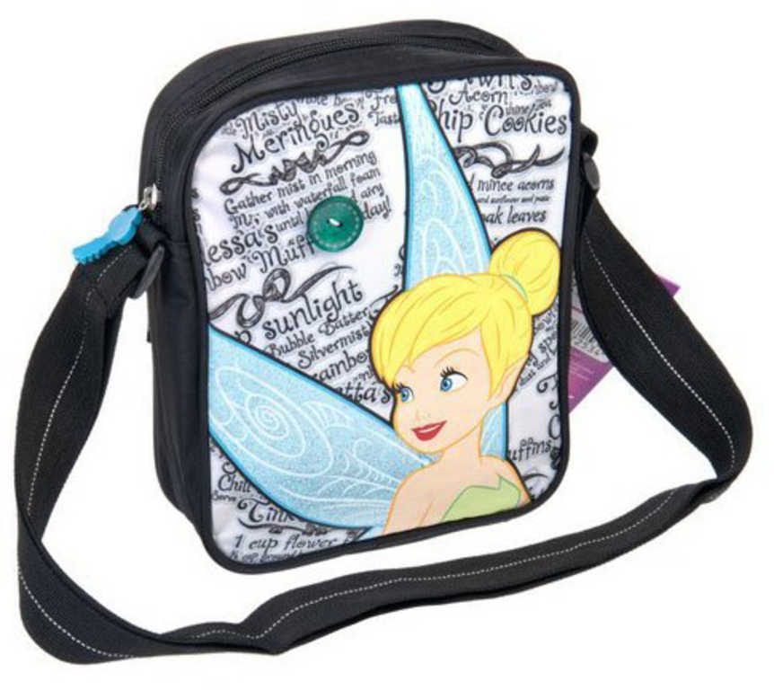 ET Taška dívčí přes rameno Disney Víly kabelka na zip