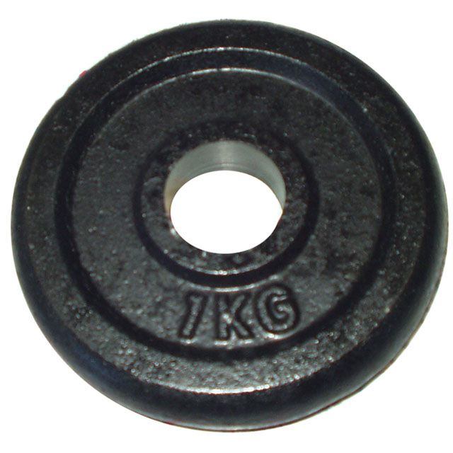 Litinový kotouč (závaží) na činky 1kg- 25 mm