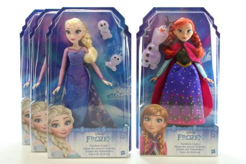 Frozen Panenka Elsa/Anna se třpytivými šatami a kamarádem