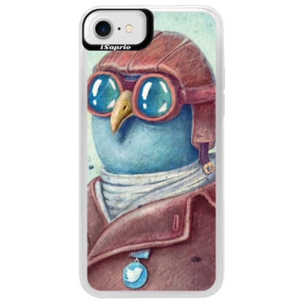 Neonové pouzdro Blue iSaprio - Pilot twitter - iPhone 7