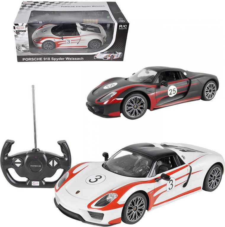 RC Auto sportovní Porsche 918 Spyder 1:14 na vysílačku 33cm na baterie Světlo