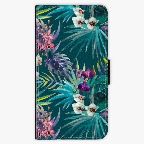 Flipové pouzdro iSaprio - Tropical Blue 01 - iPhone X