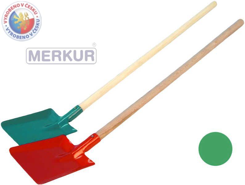 MERKUR Lopata kov/dřevo velká 70 cm na písek - 3 barvy