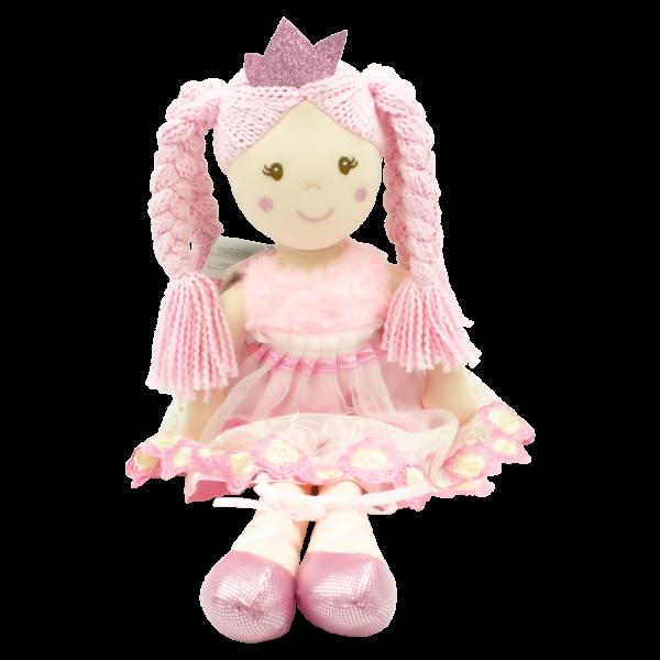 Hadrová panenka Paula-princezna, Tulilo, 50 cm - růžová