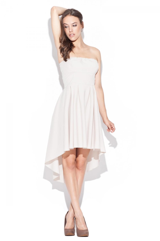 Dámské šaty K031 beige - Béžová/L