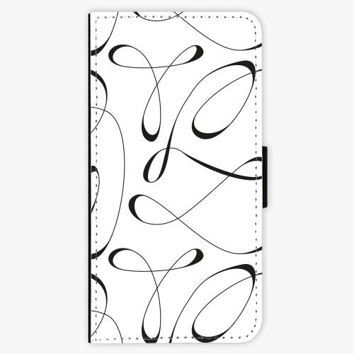 Flipové pouzdro iSaprio - Fancy - black - iPhone 7
