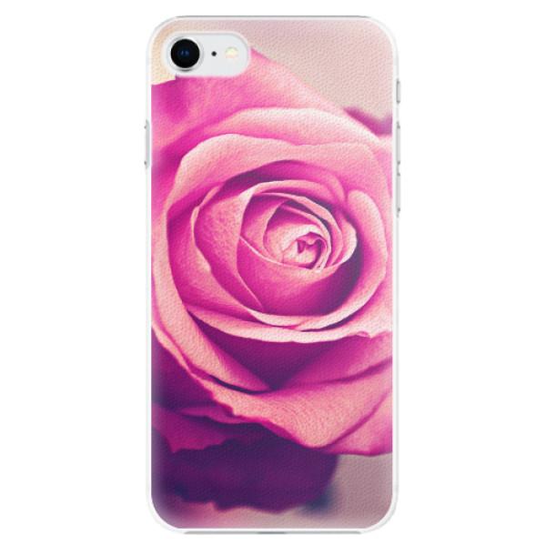 Plastové pouzdro iSaprio - Pink Rose - iPhone SE 2020