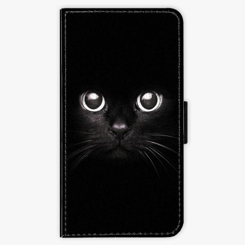 Flipové pouzdro iSaprio - Black Cat - iPhone X