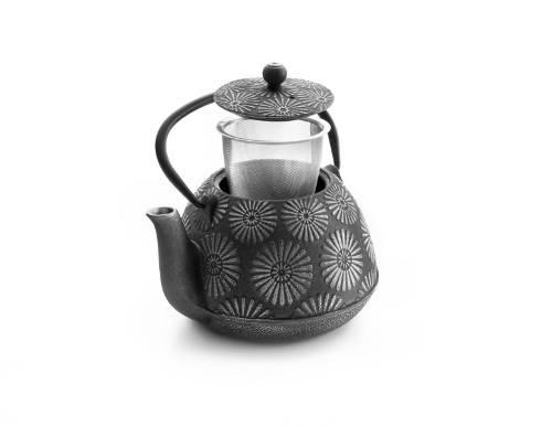 Časvaření designová litinová čajová konvice 1,2l