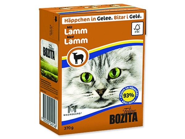 Kousky v želé BOZITA Cat s jehněčím masem - Tetra Pak 370g