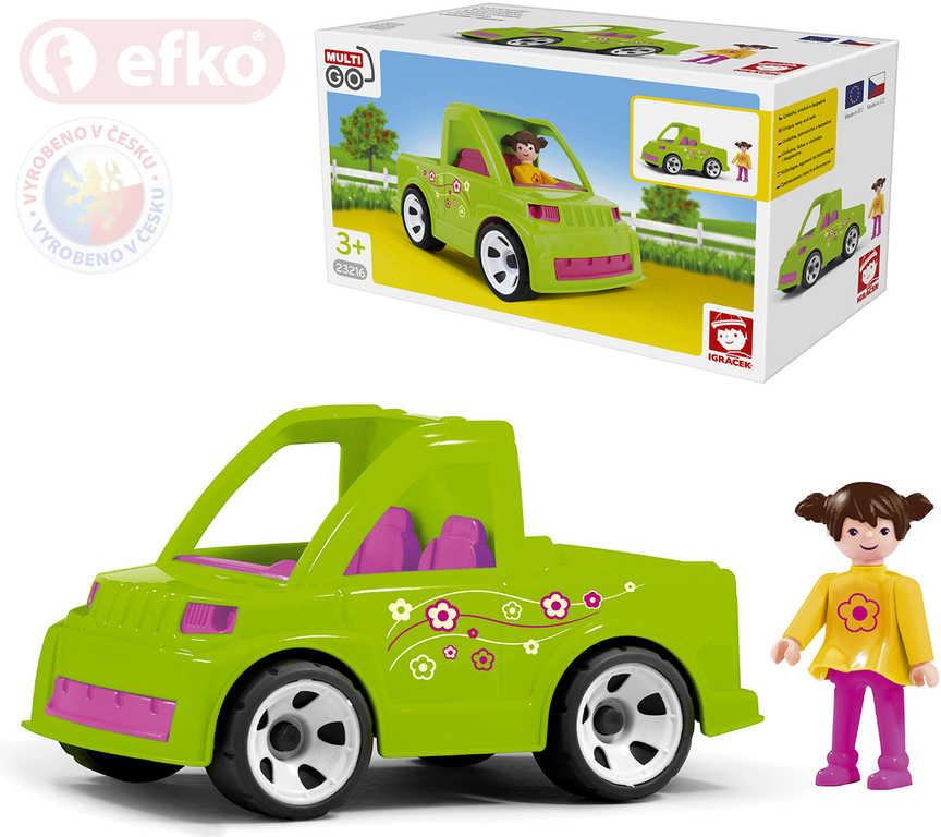 EFKO IGRÁČEK MultiGO Set auto se zahradnicí v krabici STAVEBNICE
