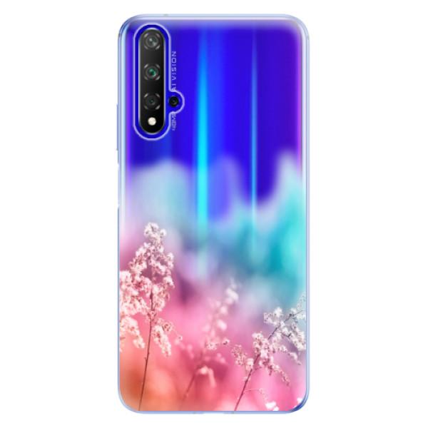 Odolné silikonové pouzdro iSaprio - Rainbow Grass - Huawei Honor 20