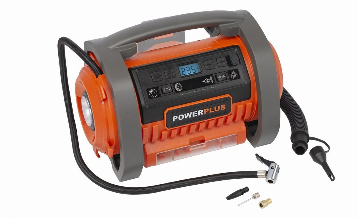 Powerplus kompresor - 20 V + 220 V bez aku