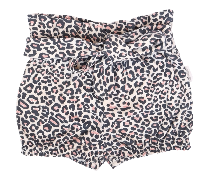 Mamatti Bavlněné kraťásky s ozdobným páskem, Gepardík