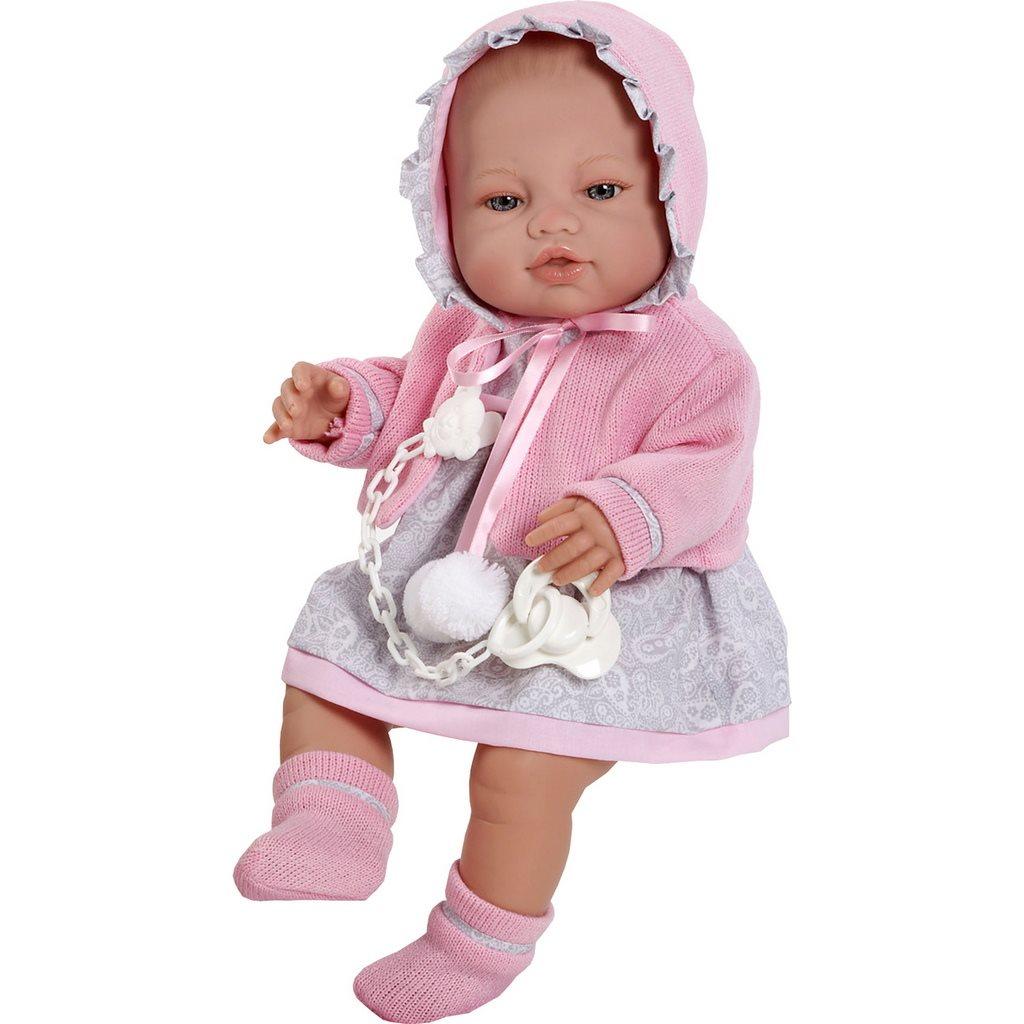 Luxusní dětská panenka-miminko Berbesa Amanda 43cm - růžová