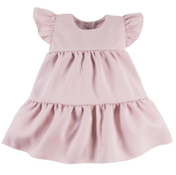 EEVI Dívčí šaty s volánky Nature