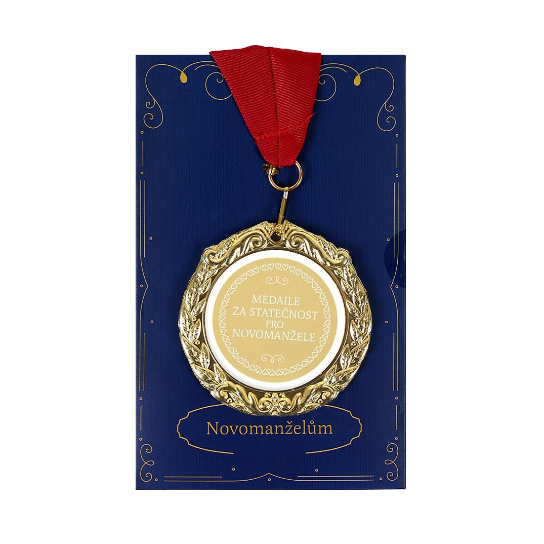 Přání s medailí - Novomanželům