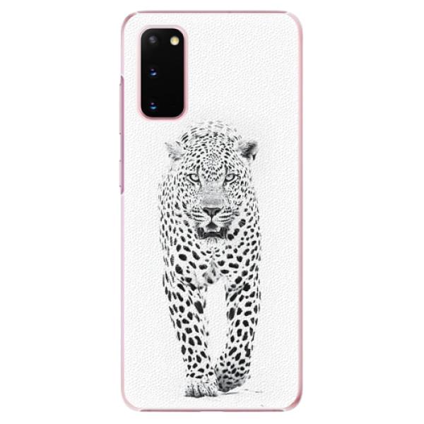 Plastové pouzdro iSaprio - White Jaguar - Samsung Galaxy S20