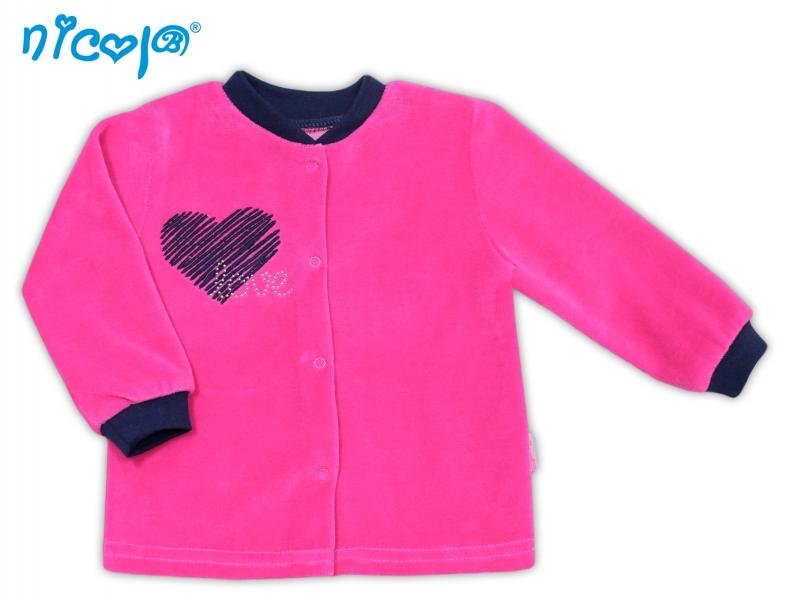 Nicol Velurová košilka Love, roz. 74 - 74 (6-9m)