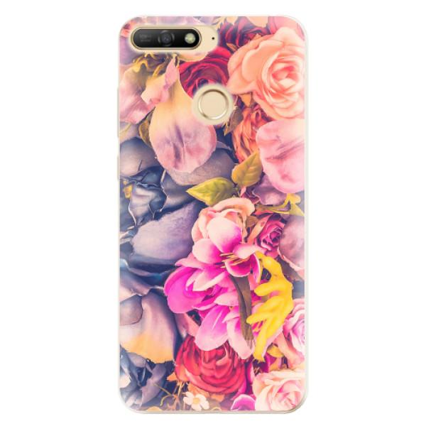 Odolné silikonové pouzdro iSaprio - Beauty Flowers - Huawei Y6 Prime 2018