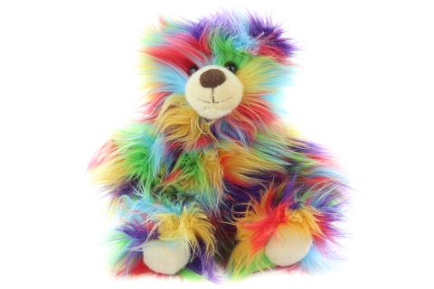 Plyš Medvěd barevný 33 cm - ECO-FRIENDLY