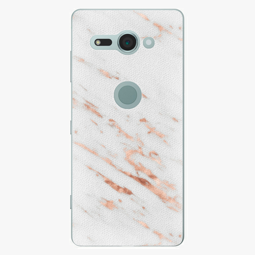 Plastový kryt iSaprio - Rose Gold Marble - Sony Xperia XZ2 Compact