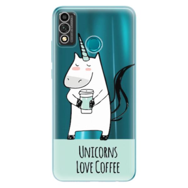 Odolné silikonové pouzdro iSaprio - Unicorns Love Coffee - Honor 9X Lite