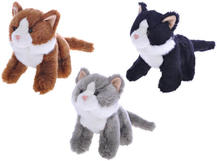 PLYŠ Kočka 20 cm - 3 barvy