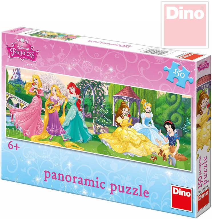 DINO Puzzle Disney Princezny na promenádě 150 dílků 63x23cm v krabici