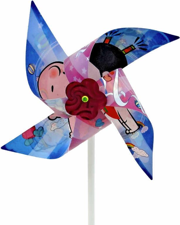Větrník obrázkový 28x20 cm plastová tyčka
