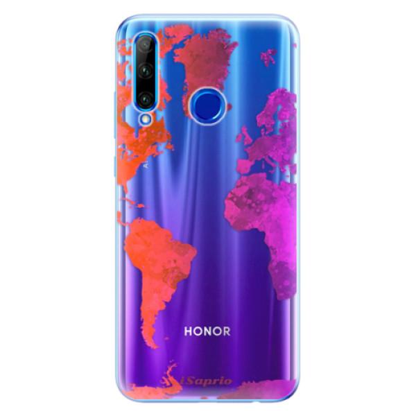 Odolné silikonové pouzdro iSaprio - Warm Map - Huawei Honor 20 Lite