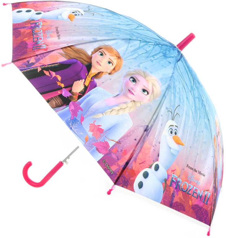 Deštník dětský Frozen 2 (Ledové Království) 80x80x66cm vystřelovací