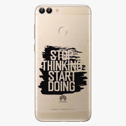 Silikonové pouzdro iSaprio - Start Doing - black - Huawei P Smart