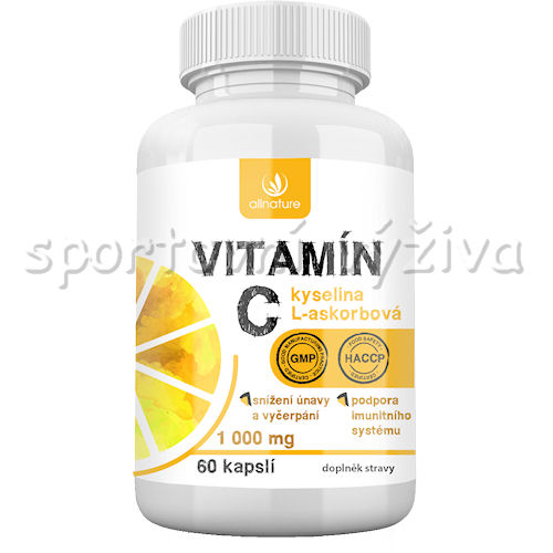 Allnature Vitamin C 1000mg 60 kapslí