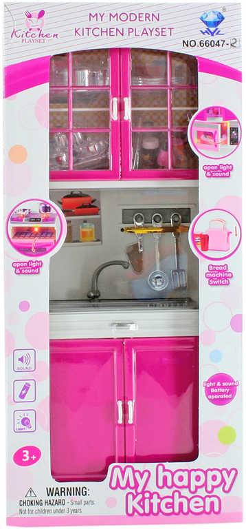Dětská kuchyňská linka set s dřezem a doplňky plast