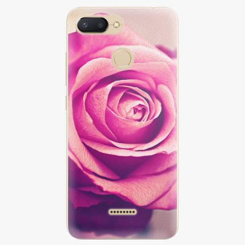 Silikonové pouzdro iSaprio - Pink Rose - Xiaomi Redmi 6