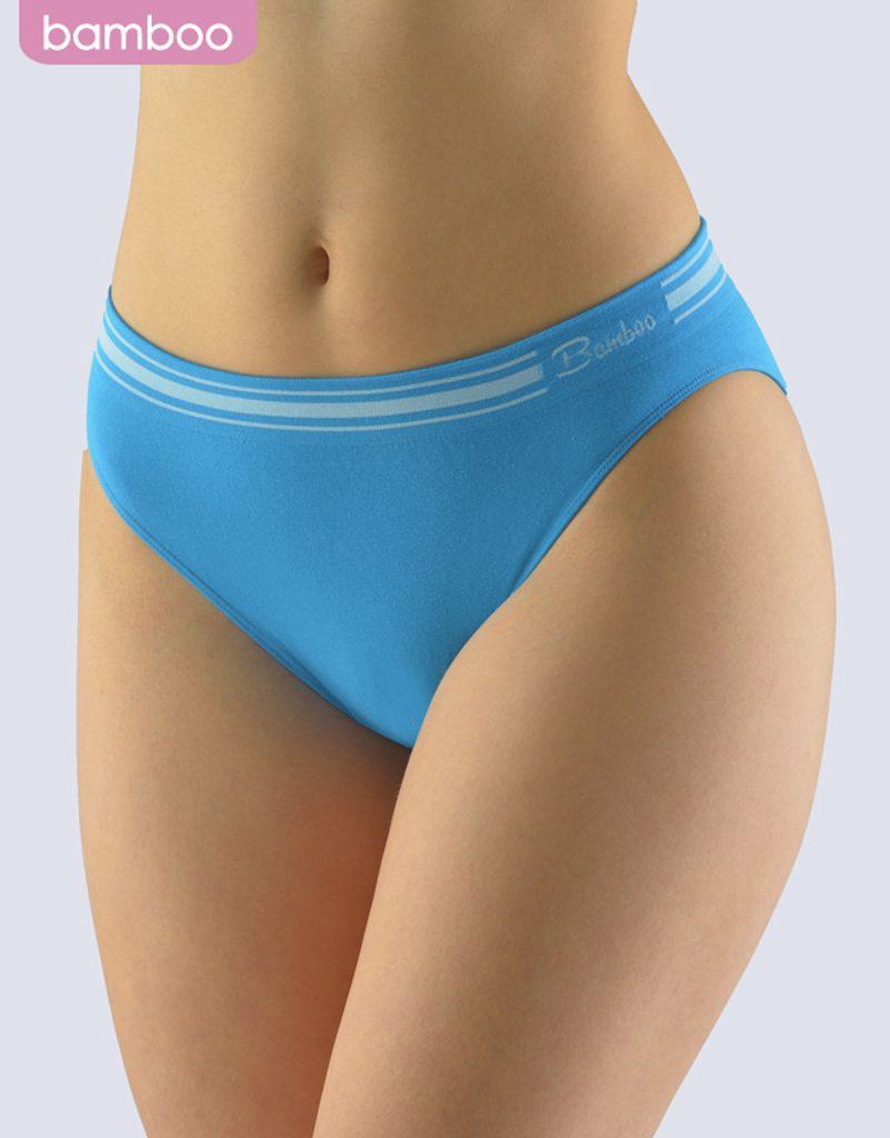 GINA dámské kalhotky klasické s úzkým bokem, úzký bok, bezešvé Natural Bamboo 00044P - dunaj bílá