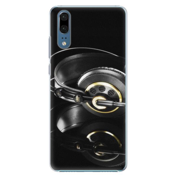 Plastové pouzdro iSaprio - Headphones 02 - Huawei P20