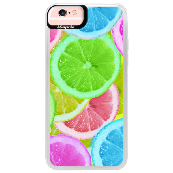Neonové pouzdro Pink iSaprio - Lemon 02 - iPhone 6/6S