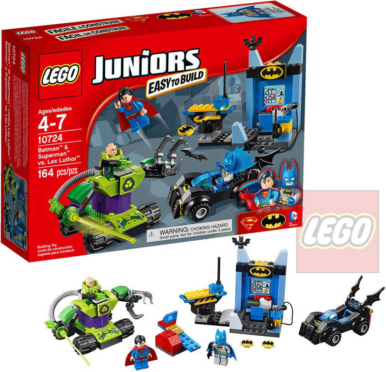 LEGO JUNIORS Batman & Superman vs. Lex Luthor 10724 STAVEBNICE