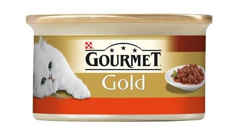 Gold Casserole směs grilovaných a dušených kousků s hovězím a kuřetem v rajčatové omáčce 85 g