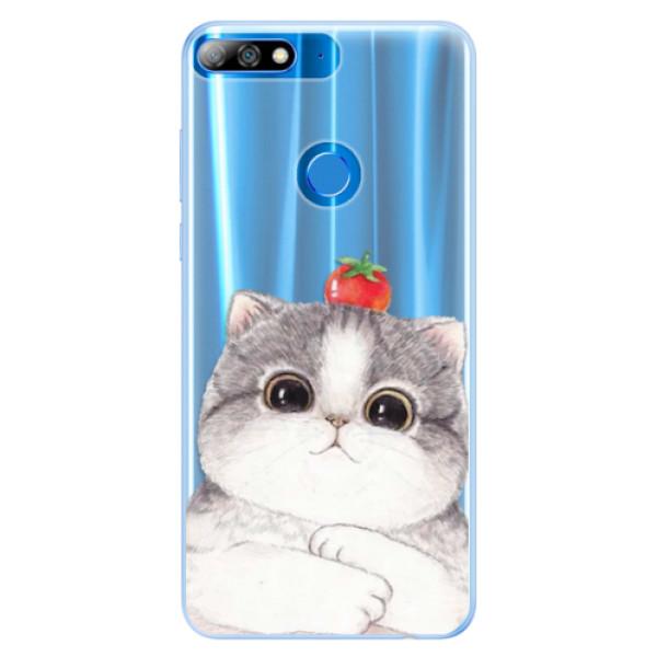 Silikonové pouzdro iSaprio - Cat 03 - Huawei Y7 Prime 2018