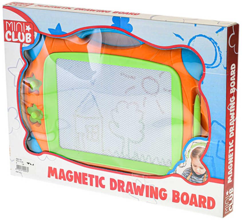 Tabulka dětská kreslicí magnetická 33x25cm set se 2 razítky a kouzelným perem
