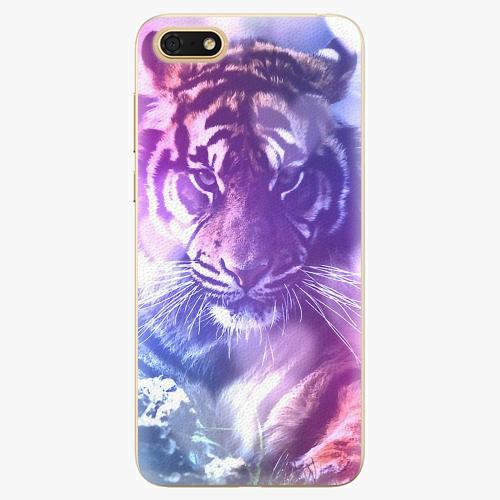 Plastový kryt iSaprio - Purple Tiger - Huawei Honor 7S