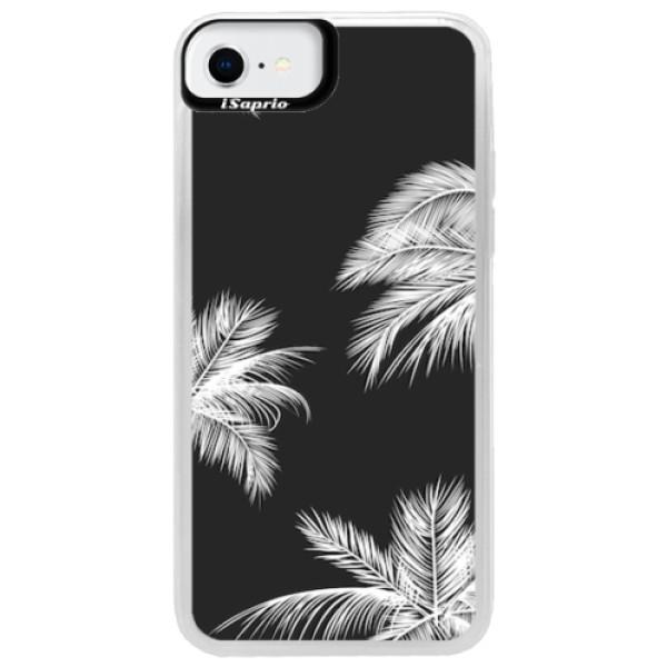 Neonové pouzdro Pink iSaprio - White Palm - iPhone SE 2020