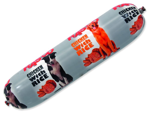 Salám RASCO Dog Chicken with Rice 900g