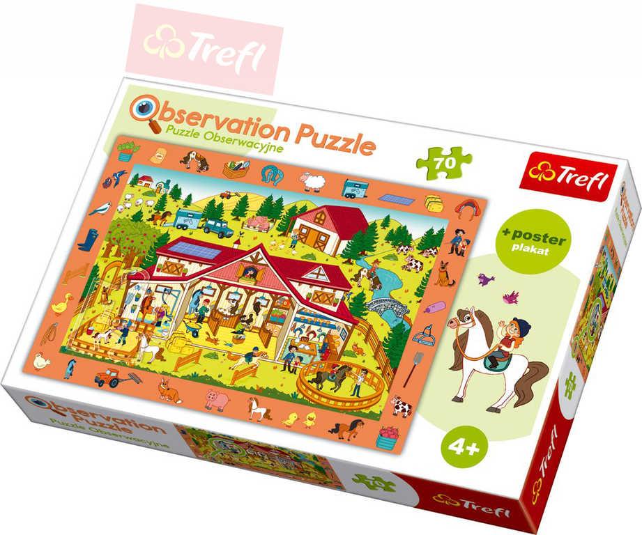 TREFL Puzzle Hledání předměrů FARMA 48x34cm set 70 dílků + plakát 115535