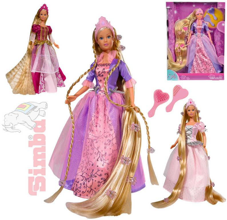 SIMBA Panenka princezna Steffi Rapunzel 30cm set s doplňky 3 druhy